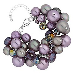Mood - Lilac pearl cluster bracelet