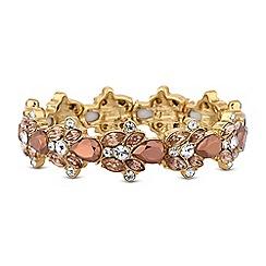 Mood - Gold crystal metallic stretch bracelet