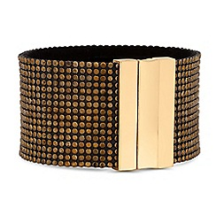 Mood - Gold crystal sparkle cuff bracelet