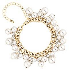 Mood - Gold pearl cluster charm bracelet