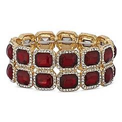 Mood - Red crystal square stretch bracelet