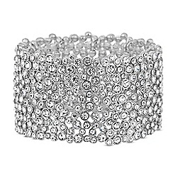 Mood - Silver crystal embellished statement cuff
