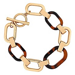 Mood - Tort resin link t bar bracelet