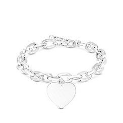 Mood - Silver plated silver heart bracelet