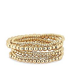 Mood - Gold plated gold multipack stretch bracelet