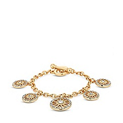 Mood - Gold plated clear star bracelet