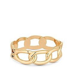 Mood - Gold Plated Chunky Chain Link Clamp Bracelet