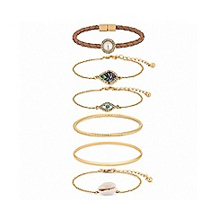 Mood - Gold Plated Mixed Style Beach Multipack Bracelets