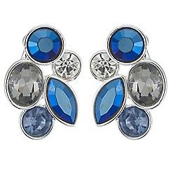 Butterfly by Matthew Williamson - Designer tonal blue crystal earrings