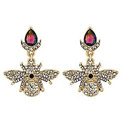 Butterfly by Matthew Williamson - Crystal bee drop earrings