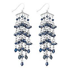 Butterfly by Matthew Williamson - Blue beaded drop earrings