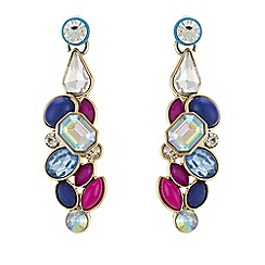 Butterfly by Matthew Williamson - Crystal layered earrings