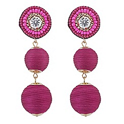 Butterfly by Matthew Williamson - Beaded sphere drop earrings