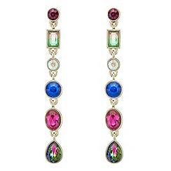 Butterfly by Matthew Williamson - Multi colour crystal drop earrings