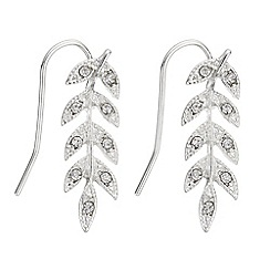Butterfly by Matthew Williamson - Crystal leaf drop earrings