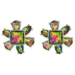 Butterfly by Matthew Williamson - Rainbow crystal flower earrings