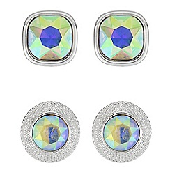 Butterfly by Matthew Williamson - Rainbow crystal earrings set
