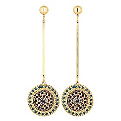 Butterfly by Matthew Williamson - Crystal pave coin drop earrings
