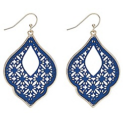 Butterfly by Matthew Williamson - Designer blue filigree drop earrings