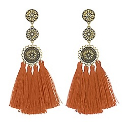Butterfly by Matthew Williamson - Designer filigree tassel drop earrings