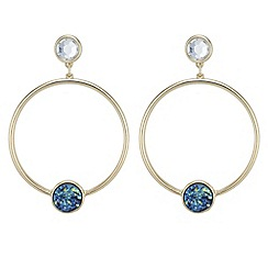Butterfly by Matthew Williamson - Designer crystal druzy stone hoop earrings