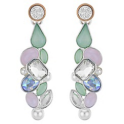Butterfly by Matthew Williamson - Designer layered crystal drop earrings