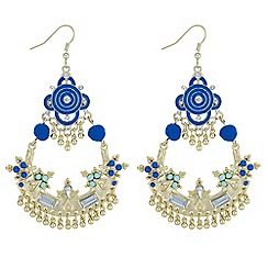 Butterfly by Matthew Williamson - Designer pom pom chandelier earrings