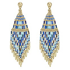 Butterfly by Matthew Williamson - Designer beaded tassel earrings