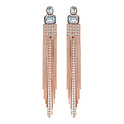MW by Matthew Williamson - Rose gold crystal chain drop statement earrings