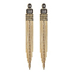 MW by Matthew Williamson - Gold crystal chain drop statement earrings