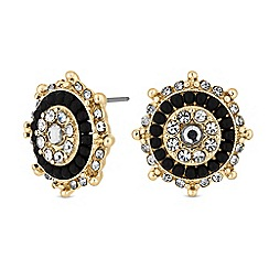 MW by Matthew Williamson - Gold crystal disc stud earrings