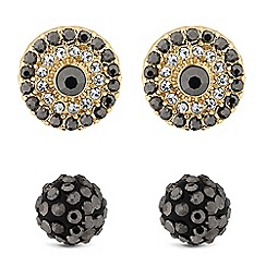 MW by Matthew Williamson - Gold crystal disc stud earring set