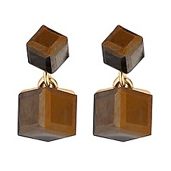 MW by Matthew Williamson - Gold bronze crystal cube drop earrings