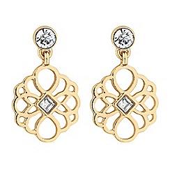 Butterfly by Matthew Williamson - Gold crystal filigree drop earrings