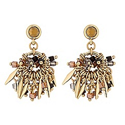 MW by Matthew Williamson - Gold charm hoop drop earrings