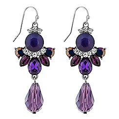 Mw By Matthew Williamson Silver Purple Cer Statement Drop Earrings