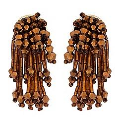 Butterfly by Matthew Williamson - Bronze beaded statement drop earring