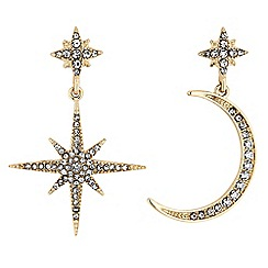 MW by Matthew Williamson - Gold crystal celestial mismatched earring