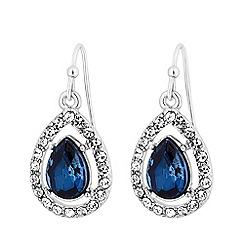 MW by Matthew Williamson - Silver plated blue glass montana peardrop drop earrings