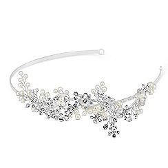Butterfly by Matthew Williamson - Designer crystal and pearl floral headband