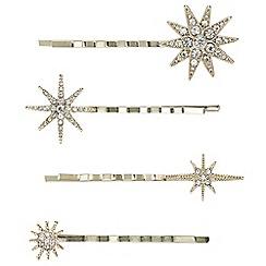 Butterfly by Matthew Williamson - Designer crystal star hair slide set