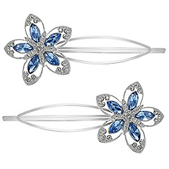 Butterfly by Matthew Williamson - Crystal floral hair slides