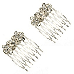 Butterfly by Matthew Williamson - Ornate crystal hair comb set