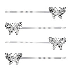 Butterfly by Matthew Williamson - Crystal butterfly hair slide set