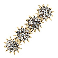 MW by Matthew Williamson - Gold crystal star hair clip