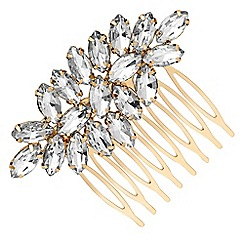 MW by Matthew Williamson - Gold crystal ornate hair comb