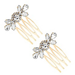 MW by Matthew Williamson - Gold crystal ornate hair comb set