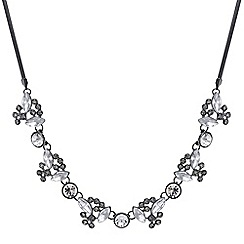 Butterfly by Matthew Williamson - Designer Silver mixed shape crystal necklace