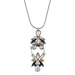 Butterfly by Matthew Williamson - Designer crystal open hoop necklace