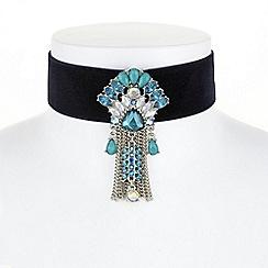Butterfly by Matthew Williamson - Designer crystal fan choker necklace